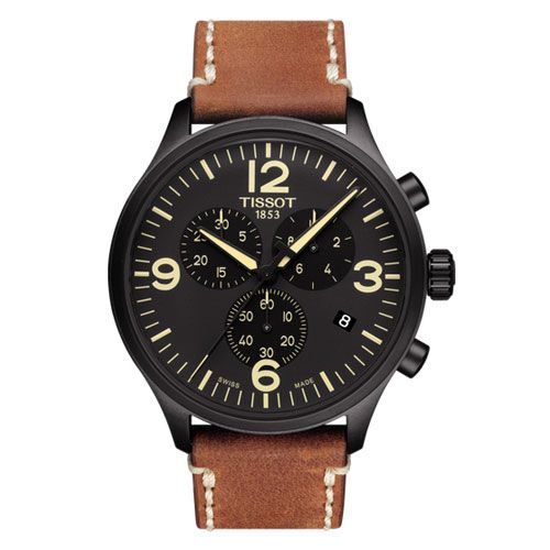 Tissot Chrono XL Gents Watch (Black/Beige)