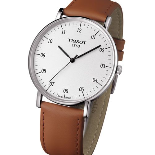 Tissot Everytime Large Gents Watch (Silver/White/Beige)