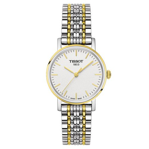 Tissot Everytime Small Ladies Watch (White/Gold/Silver)