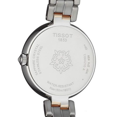 Tissot Flamingo Ladies Watch with White Mother of Pearl (Silver/Gold)