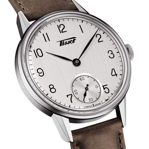 Tissot Heritage Petite Seconde Gents (White/Silver/Brown)