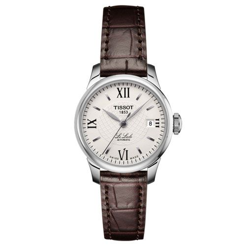18839e8c2 Tissot Le Locle Automatic Lady Watch (Silver/Brown)