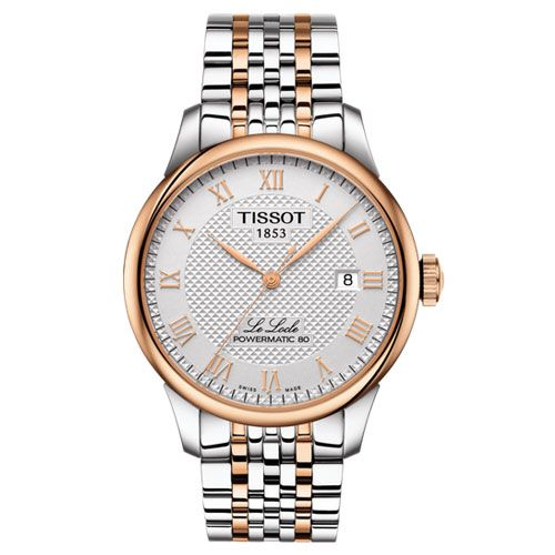 Tissot Le Locle Powermatic 80 Gents Watch (Silver/Rose Gold)