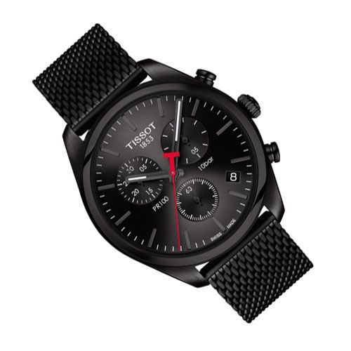 Tissot PR 100 Chronograph Gents Watch (Black)