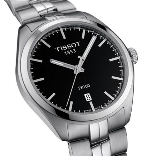 Tissot PR 100 Gents Watch (Black/Silver)