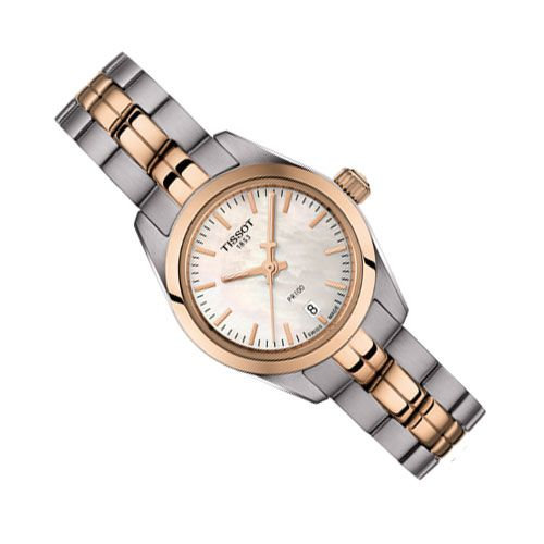 Tissot PR 100 Lady Small Ladies Watch (White/Gold/Silver)