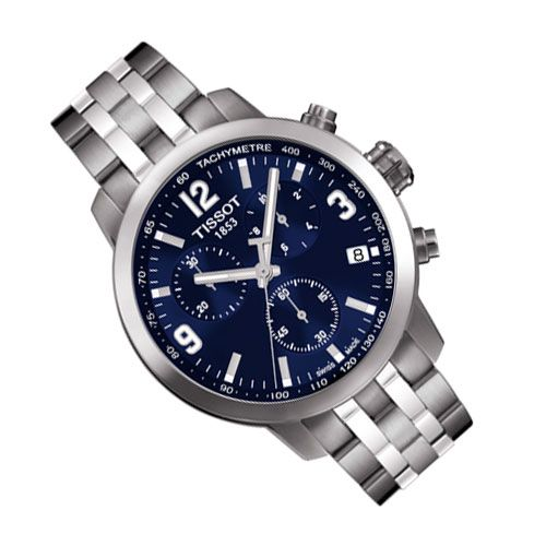 Tissot PRC 200 Chronograph Gents Watch (Blue/Silver)