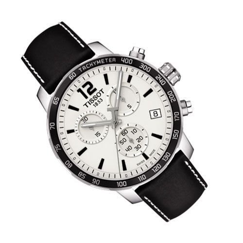 Tissot Quickster Chronograph Gents Watch (White/Black)