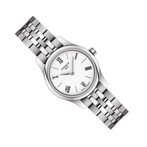 Tissot Tradition 5.5 Lady Watch (White/Silver)