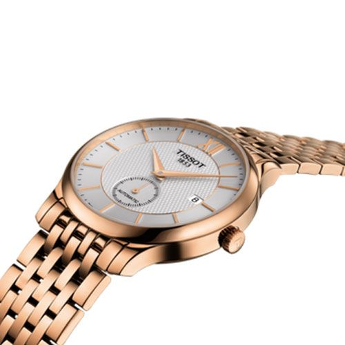 Tissot Tradition Automatic Small Second Gents Watch (Silver/Rose Gold)