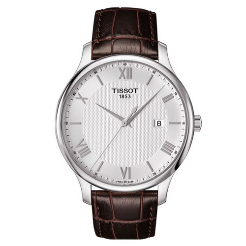 Tissot Tradition Gents Watch (White/Silver/Brown)