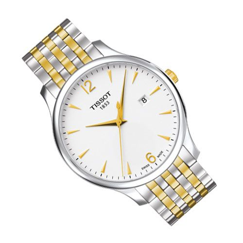 Tissot Tradition Gents Watch (White/Silver/Gold)