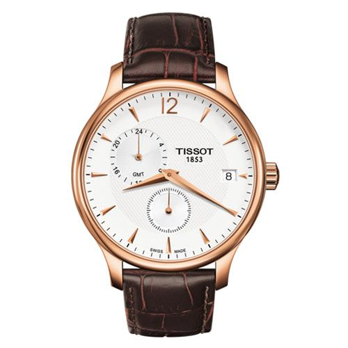 Tissot Tradition GMT Gents Watch (Rose Gold/Brown)