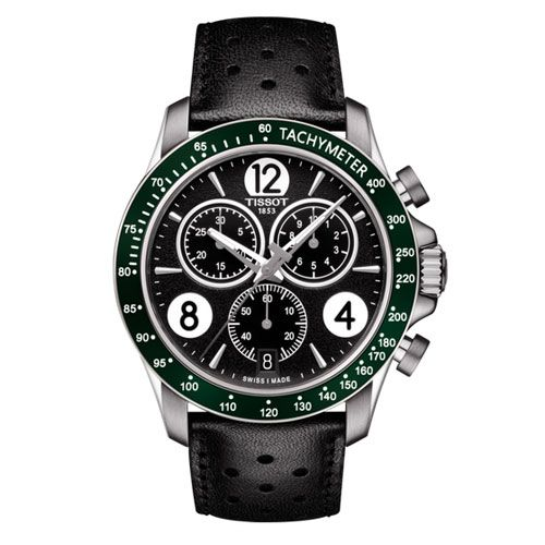 Tissot V8 Quartz Chronograph Gents Watch (Black/Green/Silver)