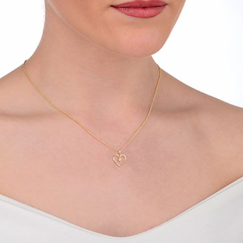 Clogau Tree of Life Heart Pendant with 9ct Gold Chain