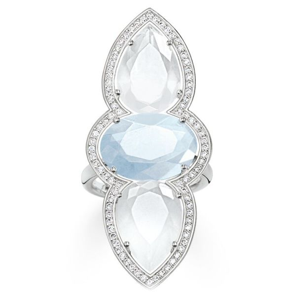 Thomas Sabo Cocktail Ring Blue Maharani - Size 54