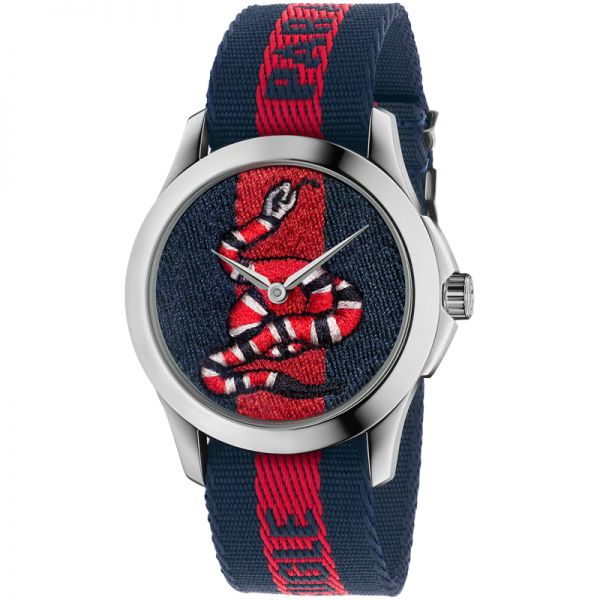 Gucci Blue and Red Le Marché des Merveilles Watch