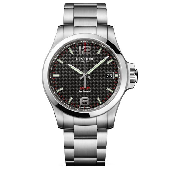 Longines Carbon Dial Conquest VHP Watch