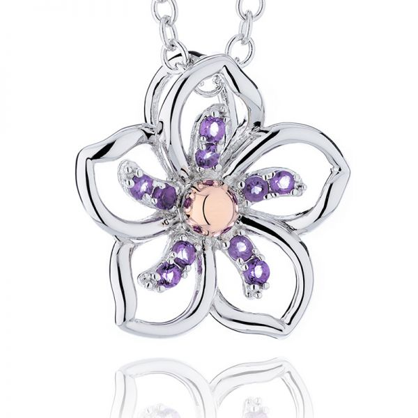 Clogau Violet Pendant with Amethyst & Sterling Silver