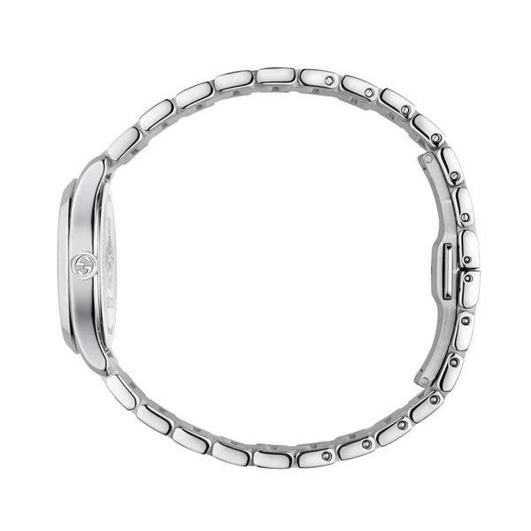 Gucci G-Timeless Ladies Silver Stainless Steel Bracelet Watch