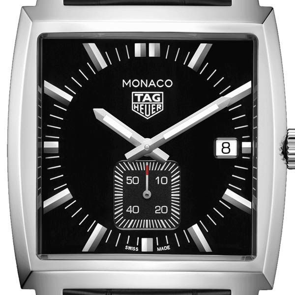 TAG Heuer Black Dial Quartz Monaco Watch