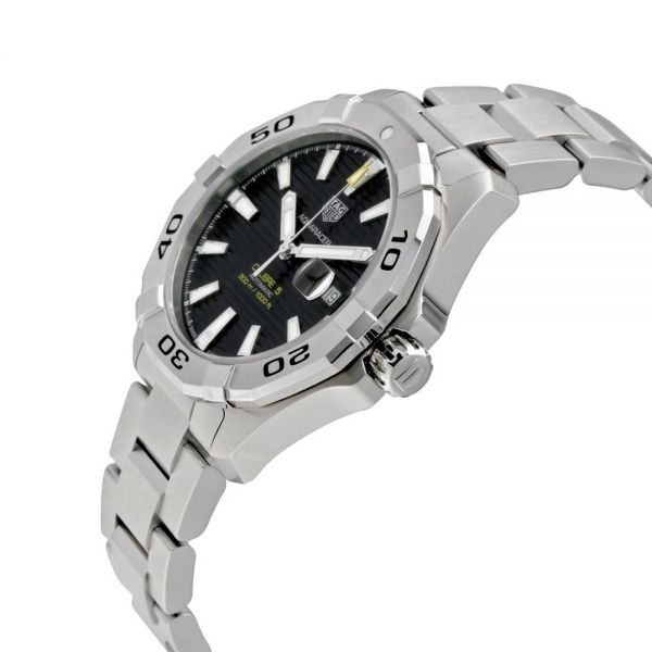 Tag Heuer Mens Calibre 5 Black Dial Aquaracer Watch