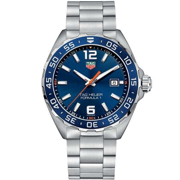 Tag Heuer Mens Formula 1 Stainless Steel Blue Dial Watch