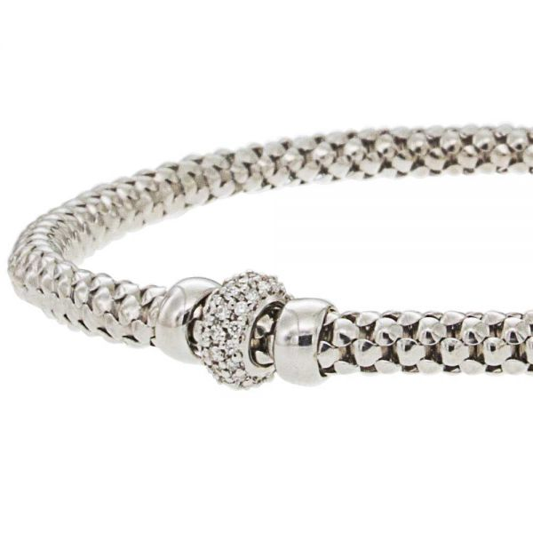 Steffans 9ct White Gold & Diamond Stella Popcorn Bracelet