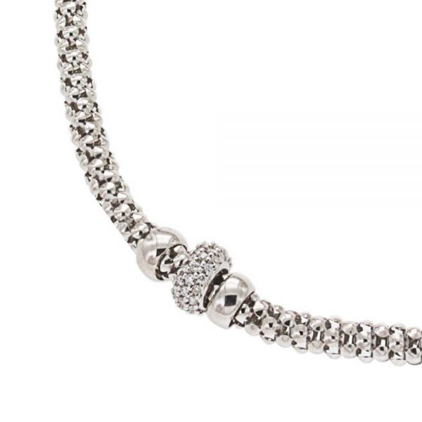 Steffans 9ct White Gold & Diamond Stella Popcorn Necklace