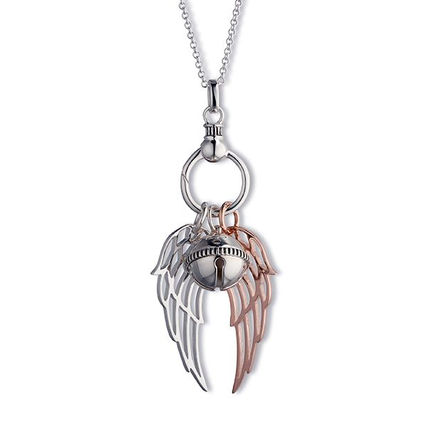 Steff Pair of Wings & Bloomsbury Bell Pendant and Carrier with Chain
