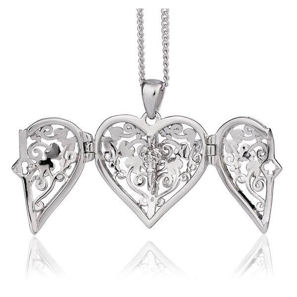 Clogau Sterling Silver and 9ct Gold Kensington Lock Locket Necklace