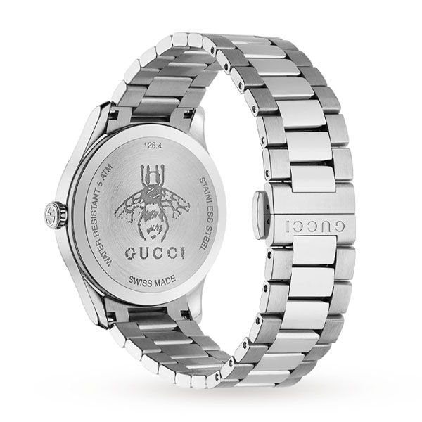 Gucci Ladies Black G-Timeless Watch With Bee Motif