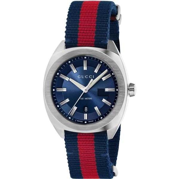 Gucci Blue & Red Nylon Watch