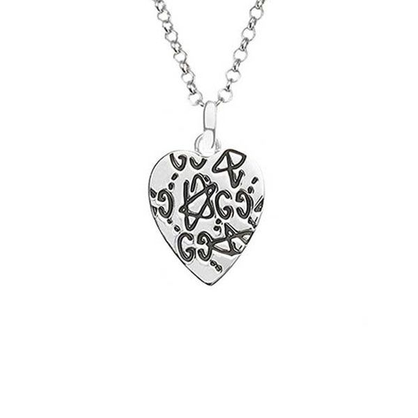 Gucci Ghost Sterling Silver Heart Necklace