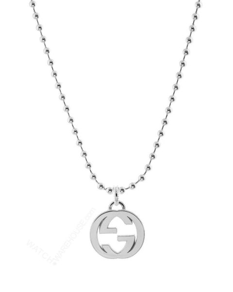 Gucci Sterling Silver Interlocking G Necklace