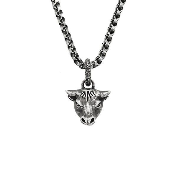 Gucci Anger Forest Bull Head Pendant Necklace