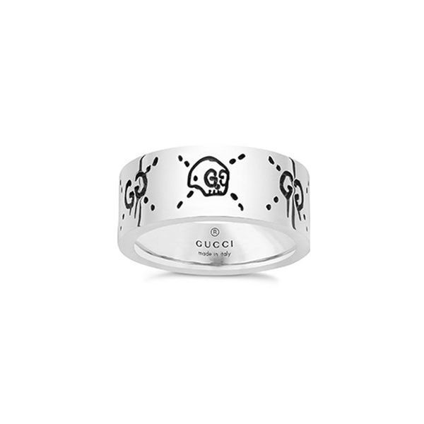 f1b13525d4cace Gucci Ghost Sterling Silver Band Ring from Steffans