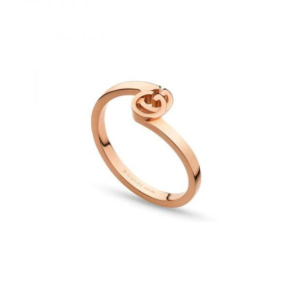Gucci 18ct Rose Gold GG Running Ring
