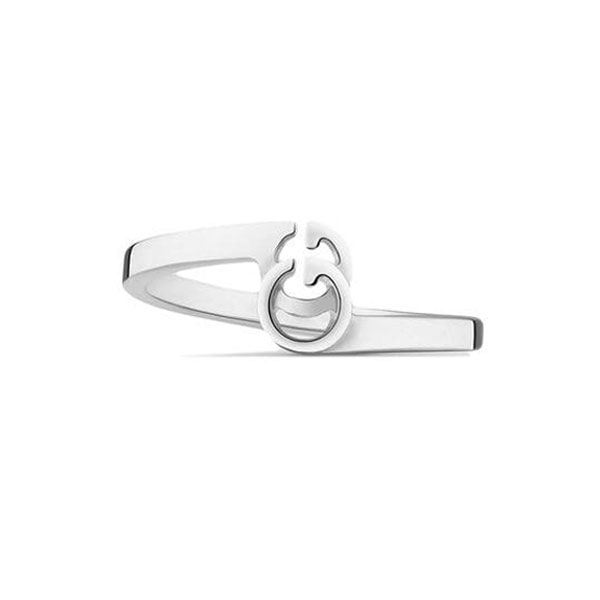 Gucci 18ct White Gold GG Running Ring