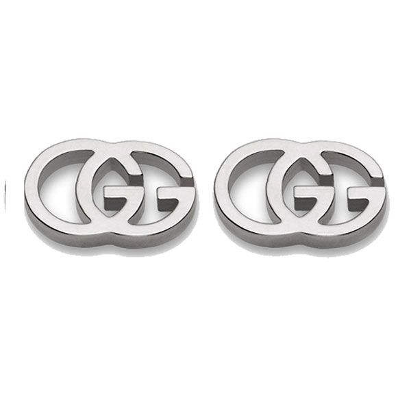 Gucci Running G 18ct White Gold Earrings