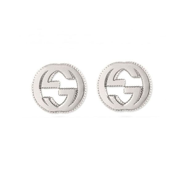 b1f379bb11e002 Gucci Interlocking G Sterling Silver Stud Earrings