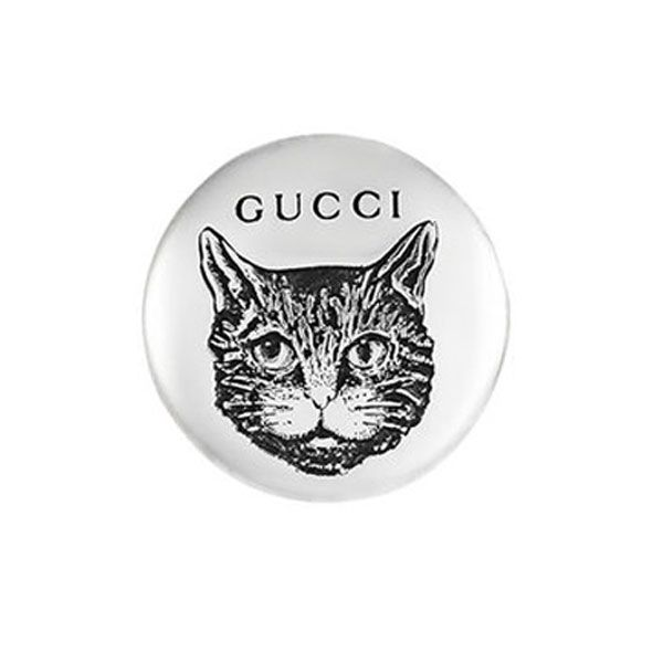Gucci Blind for Love Cat Stud Earrings