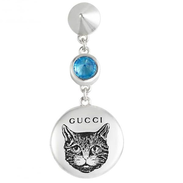 Gucci Blind for Love Round Dangle Earrings