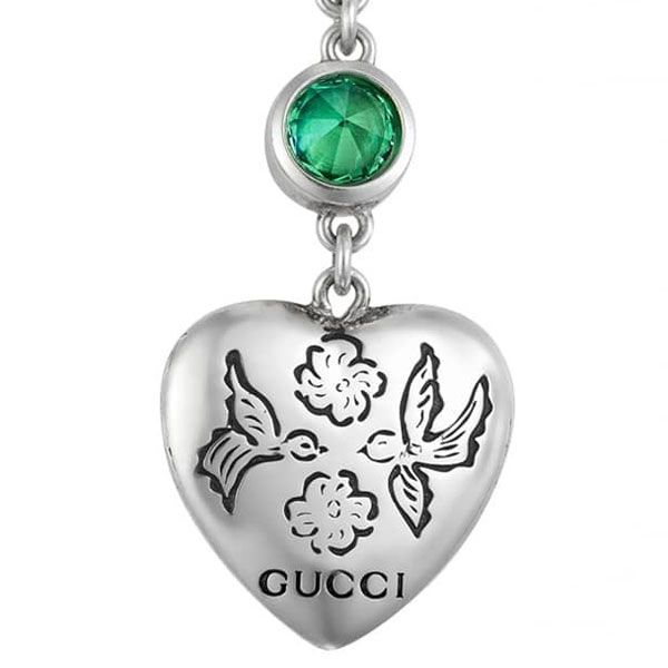 Gucci Blind for Love Heart Dangle Earrings