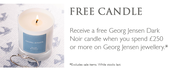 Free Candle when you spend £250 or more
