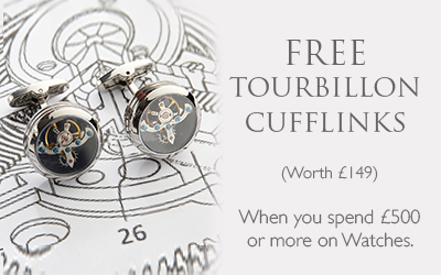 Free Cufflinks when you spend £500 or more