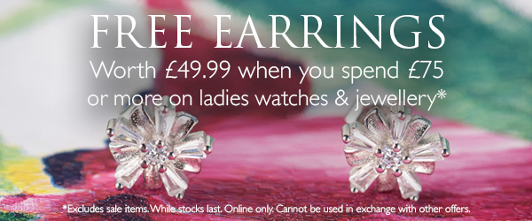 Free Earrings when you spend £75 or more