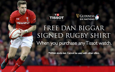 Free Dan Biggar Signed Shirt When You Purchase a Tissot Watch